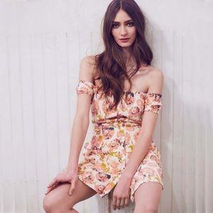 Free People Italian Breeze Floral Shoulder Dress 8